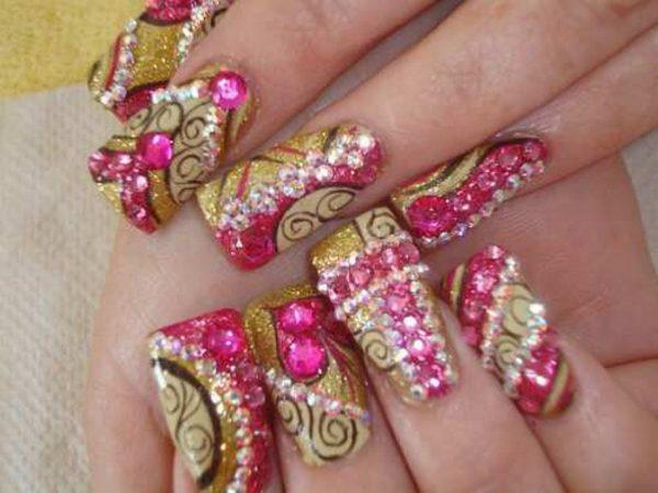 popular-acrylic-nail-art-design