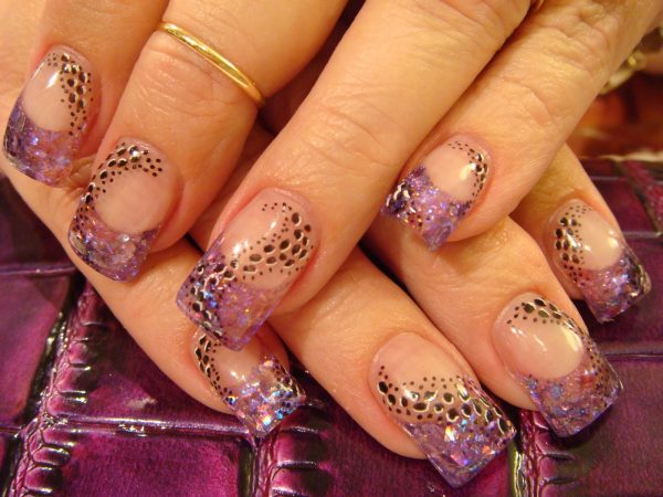 pretty acrylic nail designs