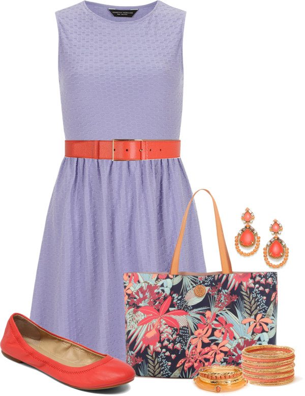 purple coral easter outfit polyvore