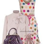 purple polka dot easter outfit ideas
