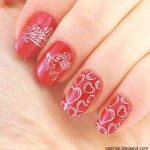 red valentine nail design 2014