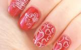 red valentine nail design 2014