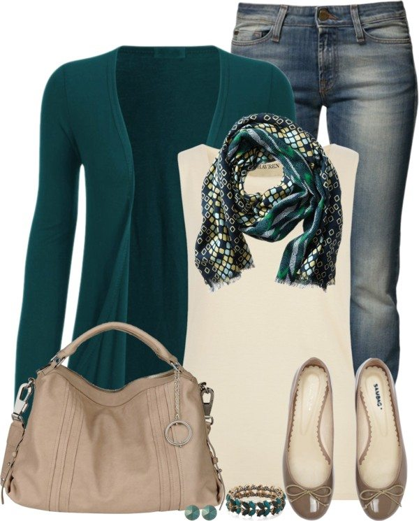 sea green cardigan