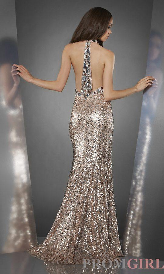 sequin halter top dress