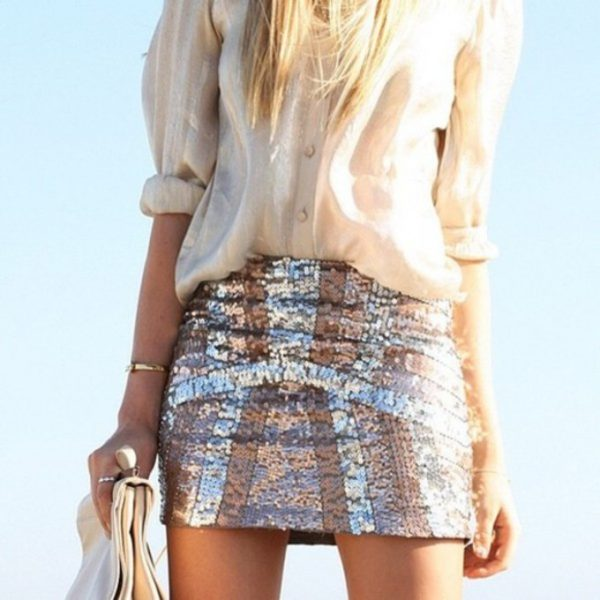shine sparkle skirt