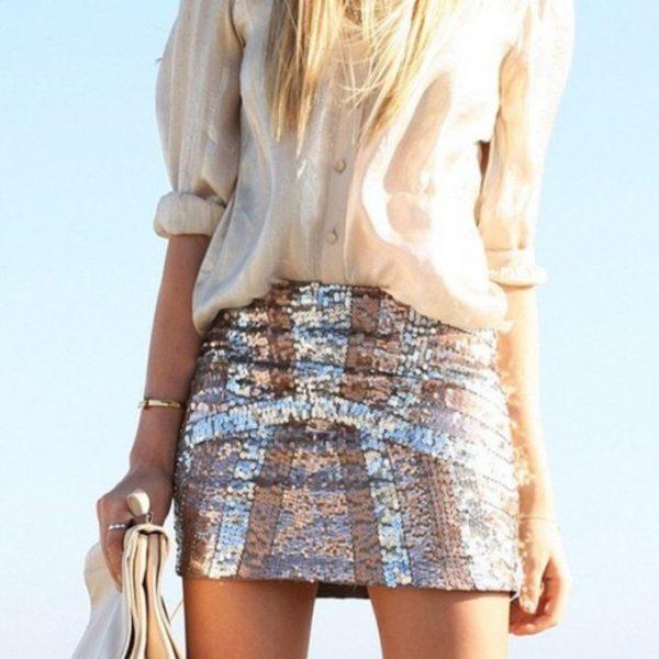 shine sparkle skirt
