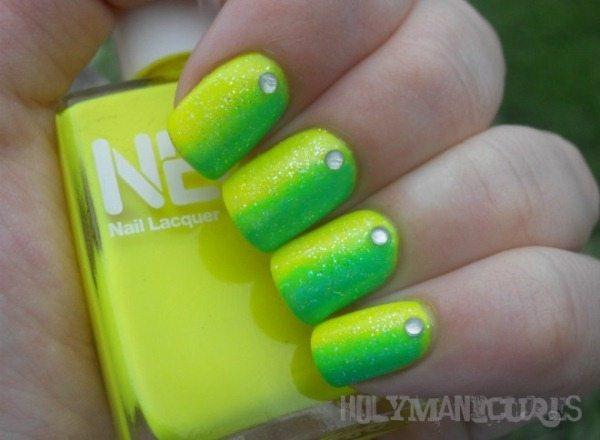 neon nail designs 2014