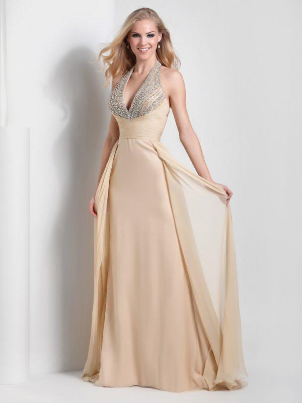 soft beige halter top dress