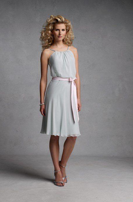 soft chiffon halter top dresses