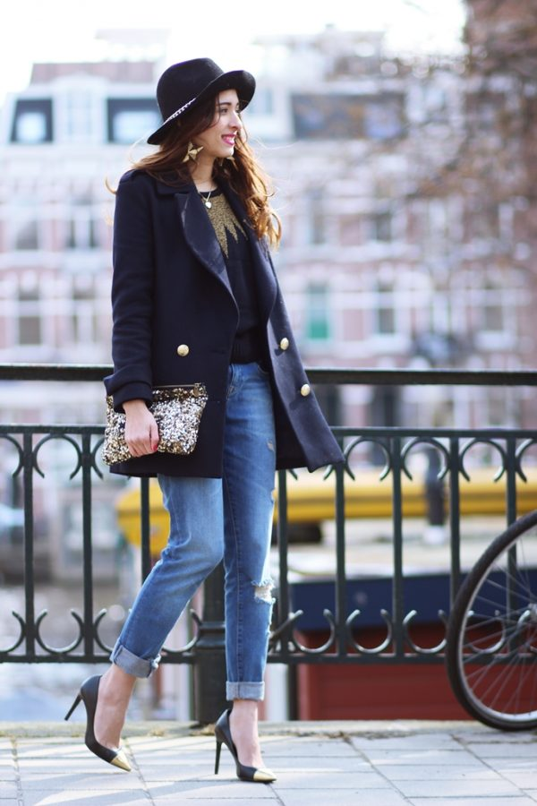 stylish with boyfriend jeans