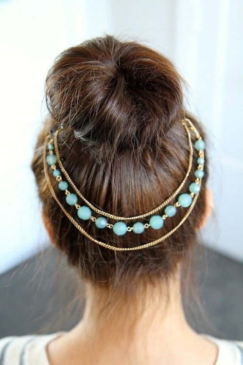 tumblr hair bun accessories