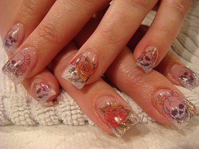 unique acrlic nail designs