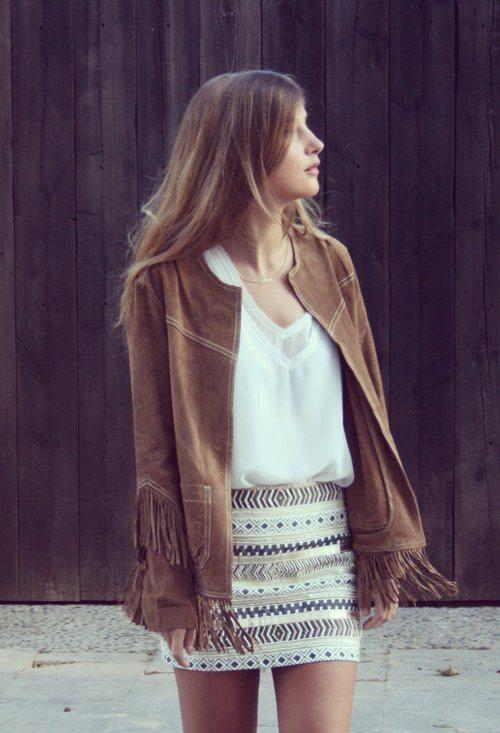 urban chic look sparkle skirt