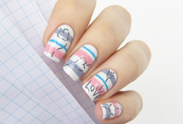 valentines 2014 nail art