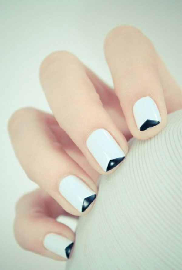 white black graphic nail designs 2014