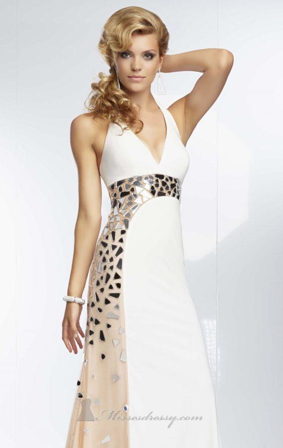 white halter top dress