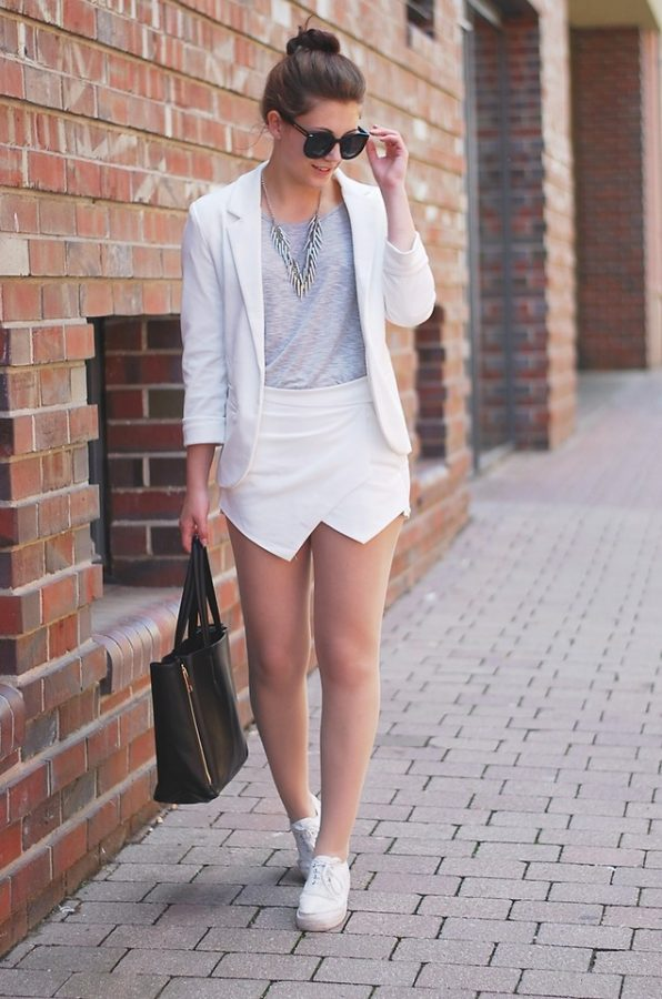 white skorts outfit