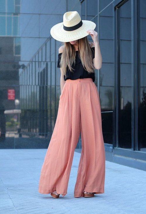 wide legged pants spring outfit 2014