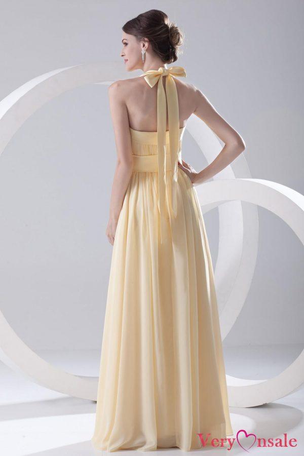 yellow halter top dress