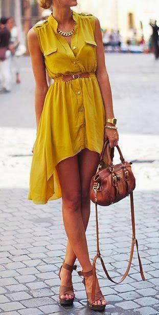 Welche schuhe zum gelben kleid