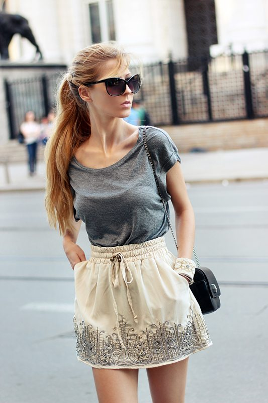 1_embellished skirt_and_gray_t-shirt