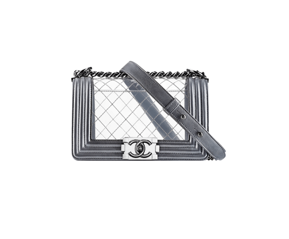 Boy Chanel Flap with PVC and Metallic Calfskin Flap