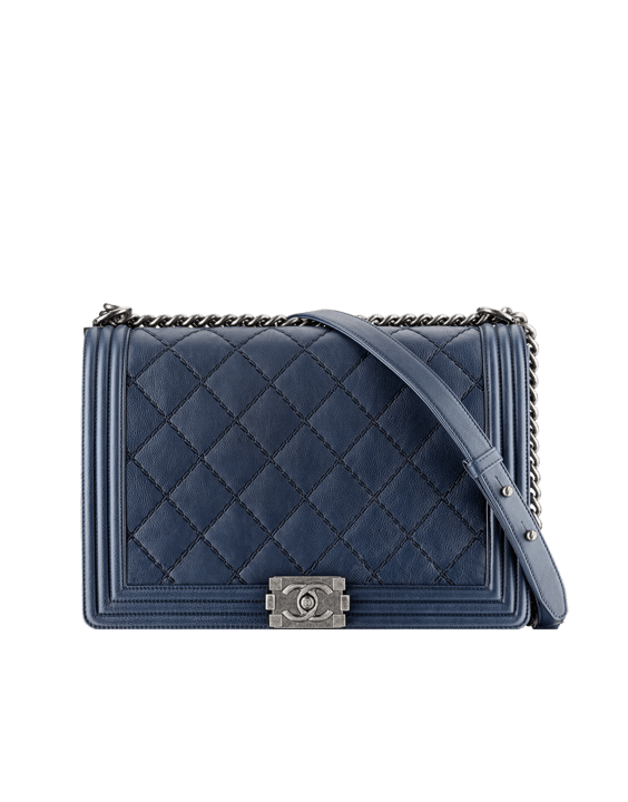 Calfskin Boy Chanel Large Flap Bag