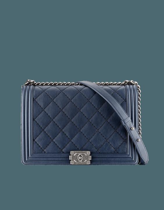 Calfskin Boy Chanel Large Flap Bag