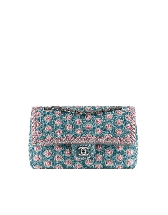 Classic Flap Bag Embroidered with Sequins and Strass