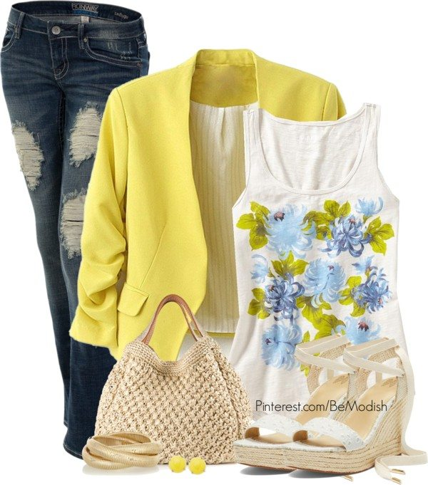 Mellow Yellow casual polyvore outfits