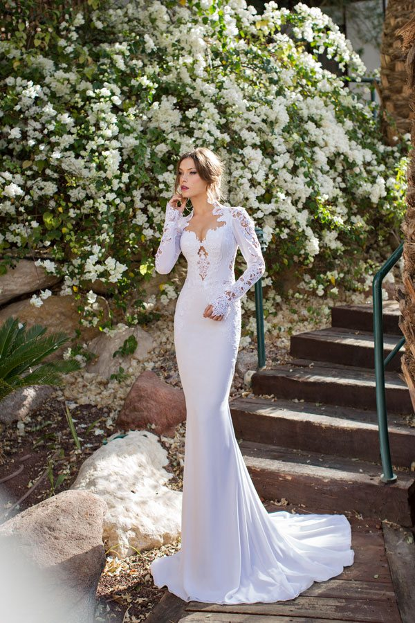 julie vino elegant wedding gown