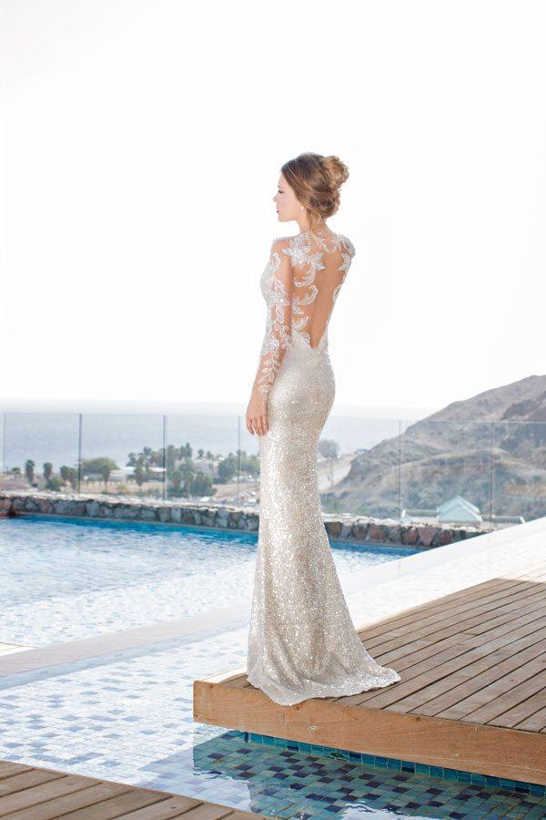 julie vino goldie wedding gown