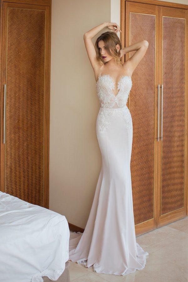 Julie vino wedding dress Mariposa