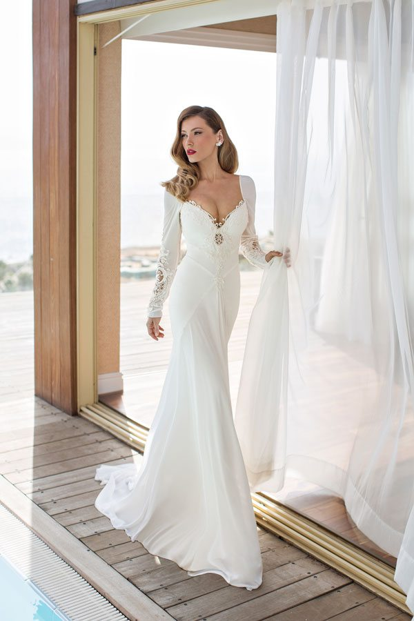 julie vino elegant wedding gown Melanie