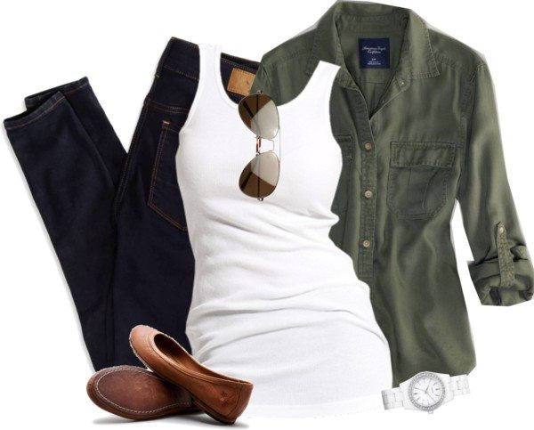 army jacket casual outfit