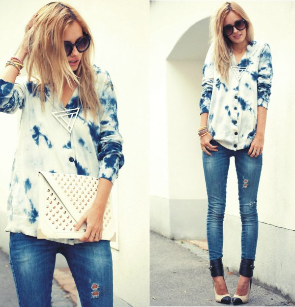 blue blouse casual weekend