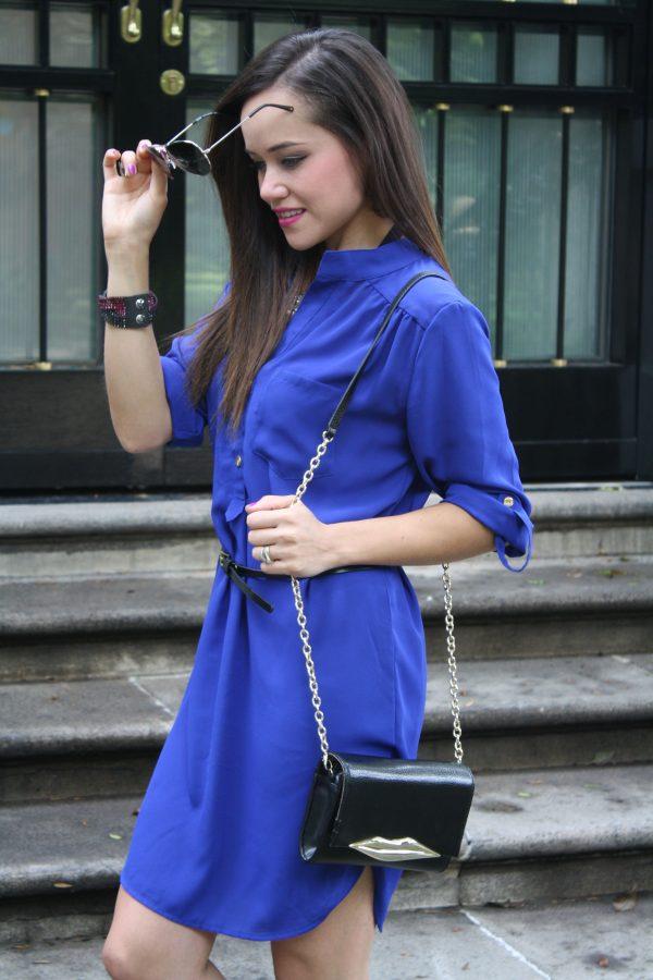 Black t shirt dress zara - Blue Zara
