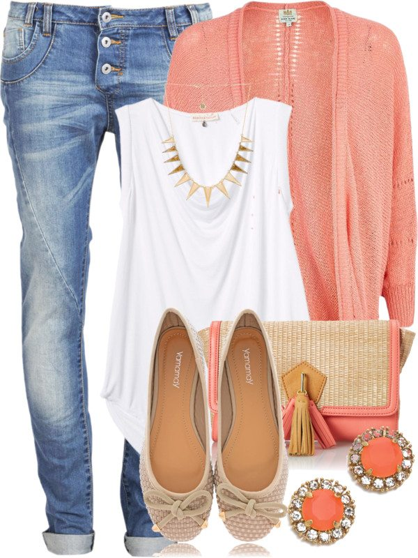 coral cardigan outfits