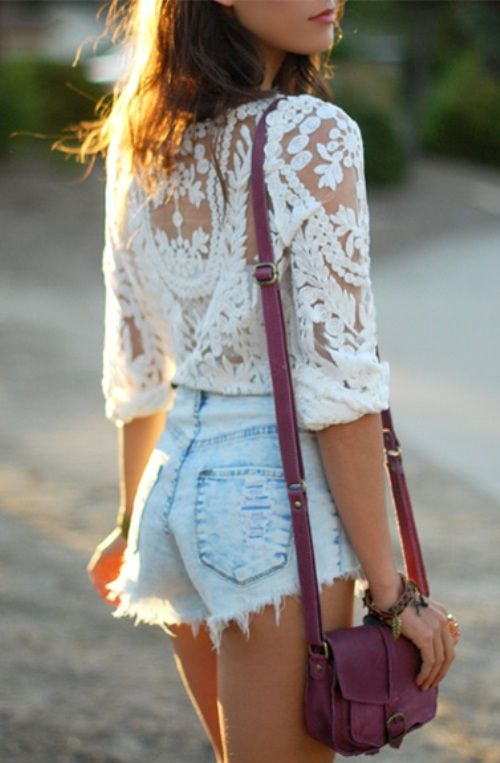 crochet with shorts
