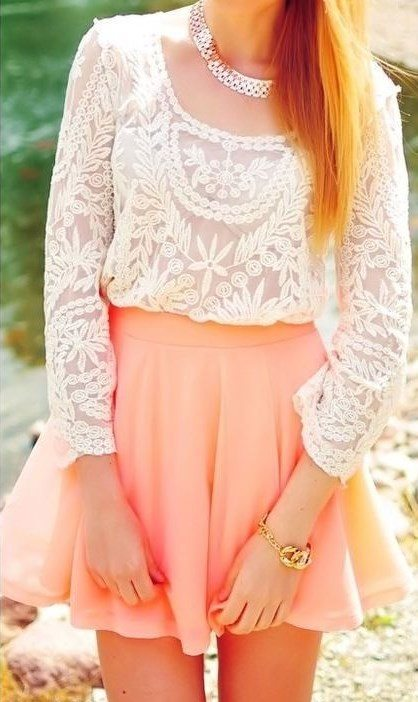 cute crochet with skirt