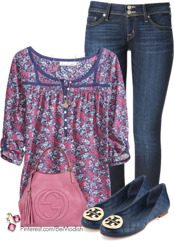 floral tunic blouse outfit