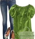 green shirt outfits
