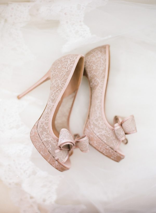 lace heels with bow