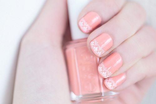 lace pastel nail art