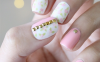 lovely pink stud nail art