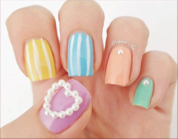 lovely color nail art