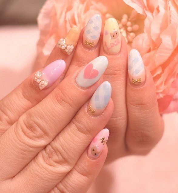 lovely pastel color nail rt
