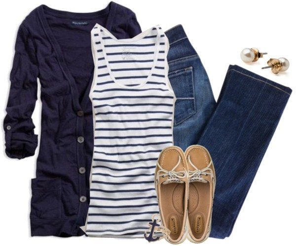 marine look casual outfit