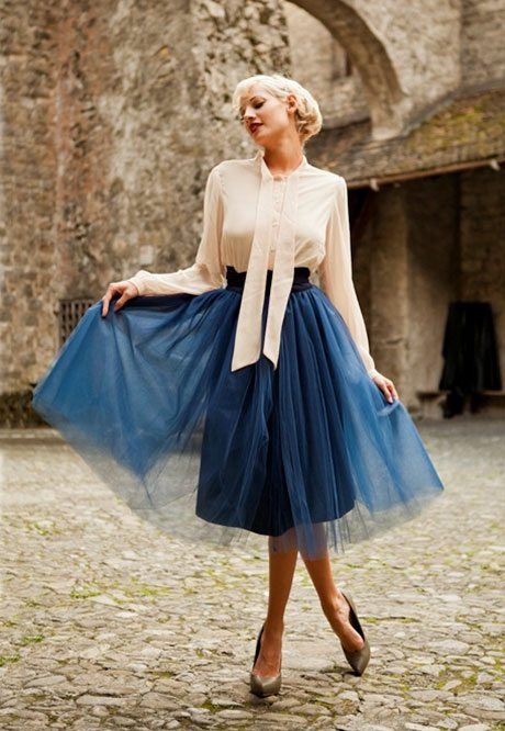 navy tulle skirt big
