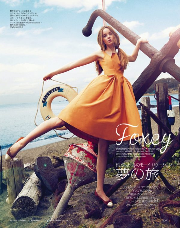 alexandra smit in orange dress